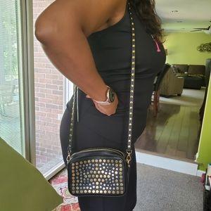 Michael Kors Black Leather Cross-Body Bag